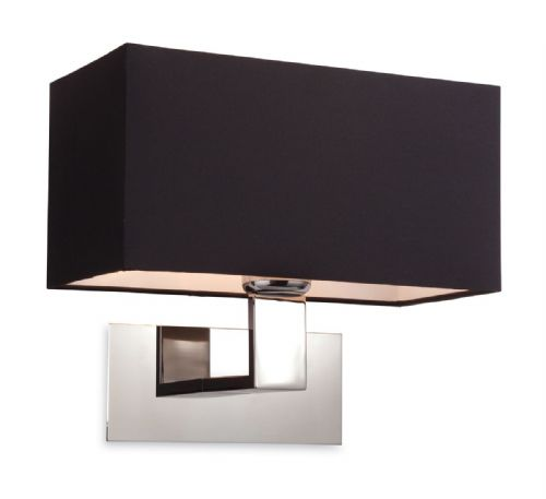 Firstlight 8370BK Polished S/Steel with Black Shade Prince Single Wall